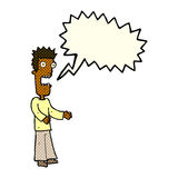 cartoon man freaking out with speech bubble Royalty Free Stock Images