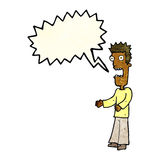 cartoon man freaking out with speech bubble Royalty Free Stock Image