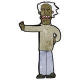 Cartoon man gestureing stop Royalty Free Stock Image