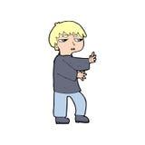Cartoon man gesturing Royalty Free Stock Image