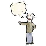 Cartoon man gesturing to stop Stock Image