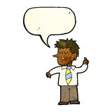 Cartoon man with good idea with speech bubble Royalty Free Stock Photography