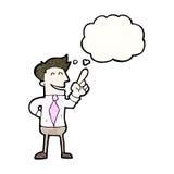 Cartoon man with great idea Stock Image