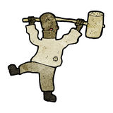 cartoon man with hammer Royalty Free Stock Image