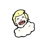 Cartoon man with head in clouds Royalty Free Stock Images