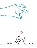 Cartoon man - help Stock Photo