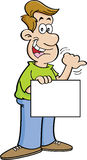Cartoon Man Hitchhiking Stock Photos