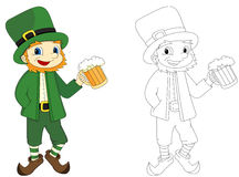Cartoon Man Holds Beer Glass Royalty Free Stock Photo