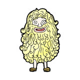 Cartoon man with huge beard Royalty Free Stock Images