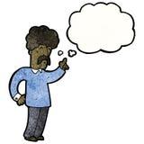 Cartoon man with an idea Stock Images