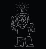 Cartoon man with idea Royalty Free Stock Photos