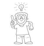 Cartoon man with idea Royalty Free Stock Photography