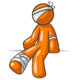 Cartoon man with injuries Royalty Free Stock Photo