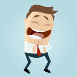 Cartoon man laughing Royalty Free Stock Images