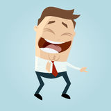 Cartoon man laughing at something Royalty Free Stock Image