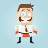 Cartoon man with lifesaver Stock Image