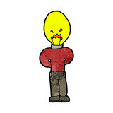 Cartoon man with light bulb for head Stock Images