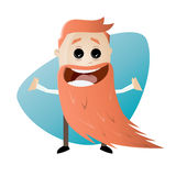 Cartoon man with long beard Royalty Free Stock Image