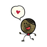 cartoon man in love Stock Images