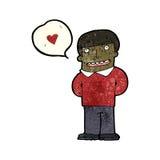 cartoon man in love Stock Image