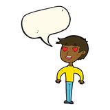 cartoon man in love with speech bubble Royalty Free Stock Photo