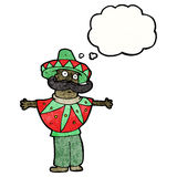 Cartoon man in mexican costume Royalty Free Stock Images