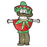 Cartoon man in mexican outfit Royalty Free Stock Photography