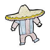 Cartoon man in mexican outfit Stock Photo
