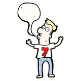 cartoon man in number seven shirt Stock Image