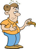 Cartoon man overeating. Royalty Free Stock Photography