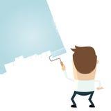 Cartoon man is painting Stock Image