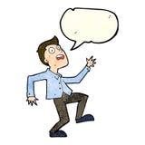 Cartoon man panicking with speech bubble Royalty Free Stock Photo