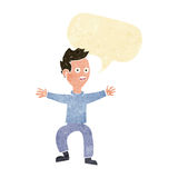 Cartoon man panicking with speech bubble Royalty Free Stock Images