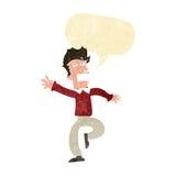 Cartoon man panicking with speech bubble Stock Photos