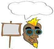 Cartoon man pattern Royalty Free Stock Images