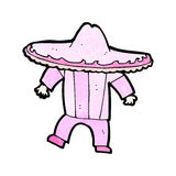 Cartoon man in pink mexican outfit Royalty Free Stock Images
