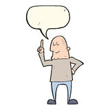 Cartoon man pointing finger with speech bubble Royalty Free Stock Images
