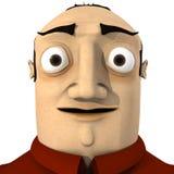 Cartoon Man Portrait stock illustration