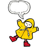 Cartoon man in raincoat Stock Photo