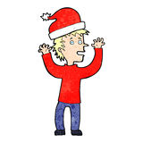 cartoon man ready for christmas Royalty Free Stock Images