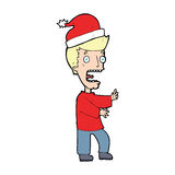 cartoon man ready for christmas Royalty Free Stock Image