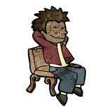 cartoon man relaxing Royalty Free Stock Images