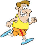 Cartoon man running Stock Image