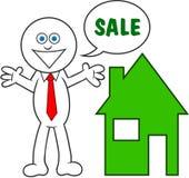 Cartoon Man Saying Sale Stock Photos