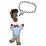 Cartoon man with severed head Royalty Free Stock Photos