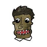 Cartoon man with shocked face Royalty Free Stock Photo