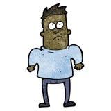 Cartoon man shrugging shoulders Stock Photography