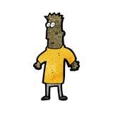 Cartoon man shrugging shoulders Stock Photos