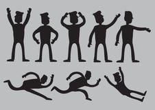 Cartoon Man Silhouette Vector Illustration Royalty Free Stock Photo
