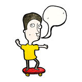 cartoon man skateboarding Royalty Free Stock Photography